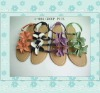 ladies flower sandals