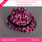 Fuchsia leopard printed angora hat/knitted hat/winter billycock
