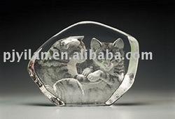 elegant crystal 3d engraved carve iceberg figurines glass iceberg decoration award crystal iceberg figurines