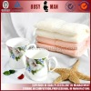 Super soft terry cotton yarn dyed face towel/face cloth