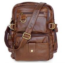 7042 China J.M.D Manufacturer Genuine Leather Backpack Bag