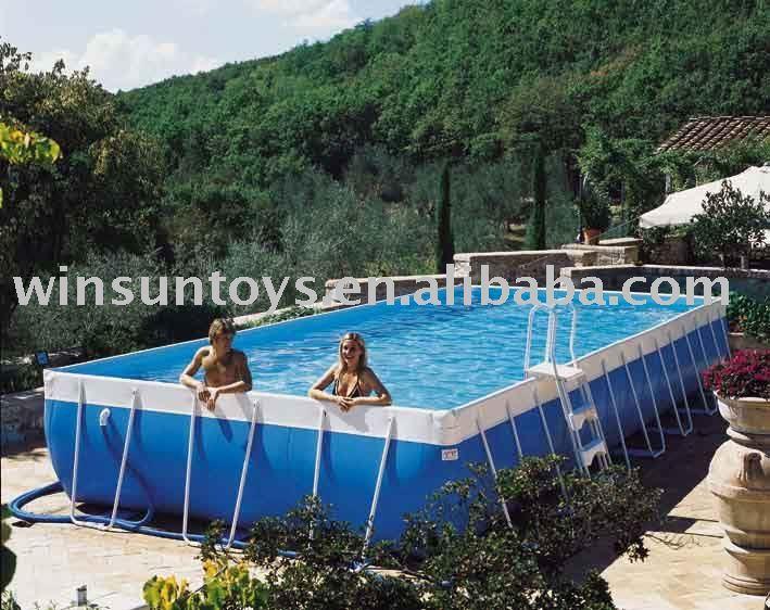 Enterrer une piscine en acier d coration de maison - Comment installer une piscine hors sol ...