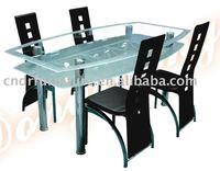 irregular metal dining table set