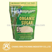 resealable PET/PE laminated plastic sugar bag with ziplock and clear window