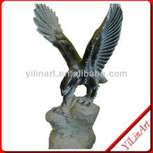 Black Marble Eagle Statue Sculptures YL-D109