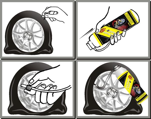 300ml Motorcycle Tyre Sealer Inflator