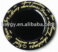 Christmas logo charger plate