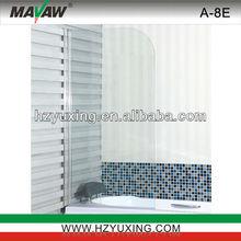 2013 new design Bathtub shower screen tempered glass