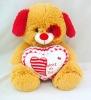 Wholesale cute mini plush teddy bear heart toy