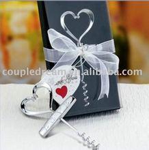 Heart Top Wedding Favor Wine Screw