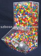 Caixa acrílica dos doces, perspex distribuidor de doces, lucite recipiente dos doces