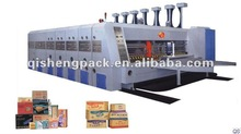 High speed automatic printing slotting and die cutting machine corrugated cardboard production line