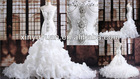 Economy Bridal dress& New Fashion OEM Crystals Sash Wedding Dress LTG-002