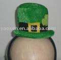 mini sombrero de copa diadema para san patricio día