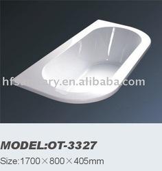 acrylic bathtub (OT-3327,1700*800*405MM)(common bathtub)