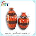decoración de cerámica flor florero alto