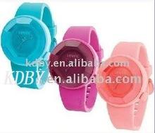 Polygon OTM Silicone Plastic Quartz Watch For Luscious Girl