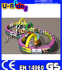 2014 hot Inflatable go cart race track