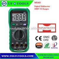 Mastech MY63 3 1/2 Digital Multimeters/Manual Range Multimeters 1000V