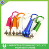 Customized Logo Metal Promotional Flash Light Key Chain