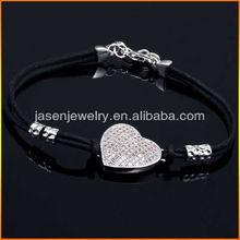 Hot Selling silver bracelets,Cotton String Bracelets with Silver Charms -JB1390