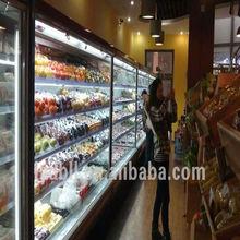 vertical supermarket freezer, Refrigerated display showcase