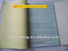 printing receipt book with carbonless copy customized