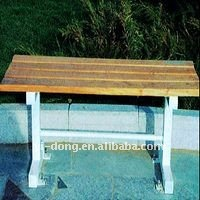 Public wooden leisure benches for garden