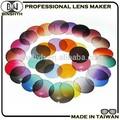 lunettes de soleil lentilles colorées ronde taille