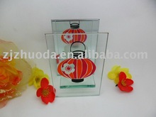 Traditional glass candle holder