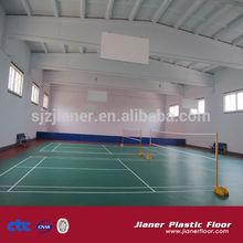 pvc indoor sports floor for badminton court