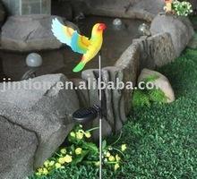 parrot designed solar stake light/plastic stakes for solar light
