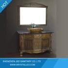 Free Standing Glass Sink Bathroom Antique Wood Furniture