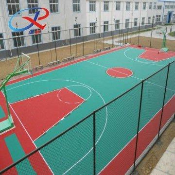 2014 plastic outdoor basketball flooring