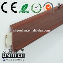 """3.15"""" pvc foam skirting, vinyl foam wall base board pass ISO"""