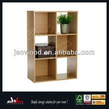 2015 New Design 6 Cube Modern Wood Bookcase/Furniture Wooden Bookshelf/Wooden Book Shelf