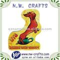 Polyresin imán de frigorífico imán que hace la máquina lindo perro de la etiqueta engomada