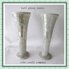 Wedding Top Sale Handcraft Trumpet Shape Tall Crackle Silver Mirror Mosaic Vases