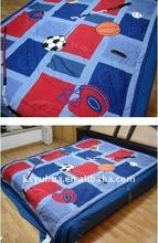 children appliqued patchwork bedding set, appliqued comforter cover set