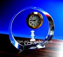 beauty,crystal gift ,crystal table clock crystal decorative clock