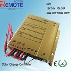 waterproof mini size solar charge controller with remote control programable 12v 24v auto 10A 20A selectable