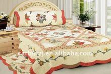 100% Cotton Applique Patchwork Quilt