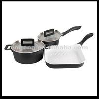 Die-cast aluminium ceramic cookware set