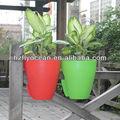 Fo-9888 plástico plantador de rega auto, vaso de flor varanda, ferroviário vaso de plantas
