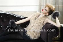 fashion vest style women's fur jacket F1104