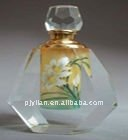 clear crystal painting images perfume bottle k9 crystal perfume bottle