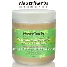 Hot selling Vanilla & Spiced Honey Shea Whitening Body Butter 500g