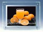 LED crystal slim light box/ photo box/frame
