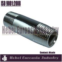 standard welded steel pipe nipple/chromed plated galvanized barrel nipple