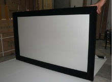 Home Cinema Fixed Frame Projection Screen/Top Quality Fixed Frame Projection Screen/Black Velvet Covered Fixed Frame Screen
